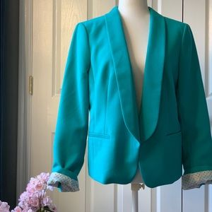 Loft Button-less Bazer in teal, size 12